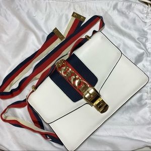 Gucci Sylvie small shoulder bag white leather